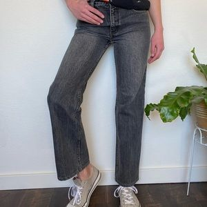 Vintage Black Faded Levi's High Waisted Jeans